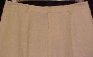 NEW Ralph Lauren Creme Linen Pants Size 16WP 16 Womens Petite Plus Size Retail $139 201231