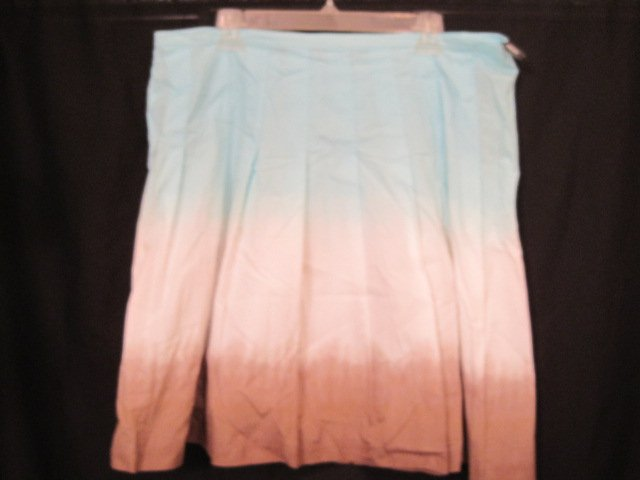 Daisy Fuentes Tri-Colored Blue Skirt Size 16W 16 Plus Size Women Clothing 201851
