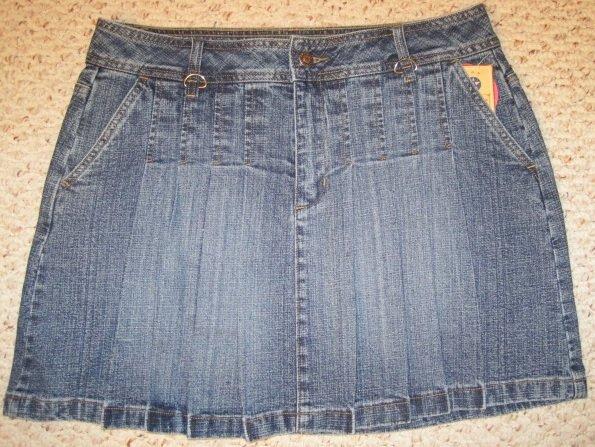 New Denim Jean Pleated Front Skirt Girls Plus Size 14.5  Plus Size Girls Wear 201941