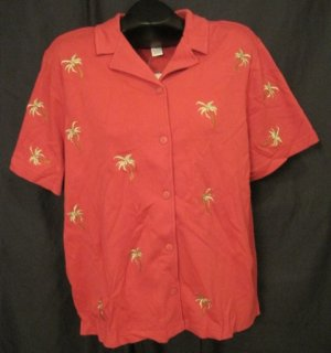 New Bechamel Shirt  Jungle Beat Collection Rust Color Size 1X Plus Size Women's Clothing 202321