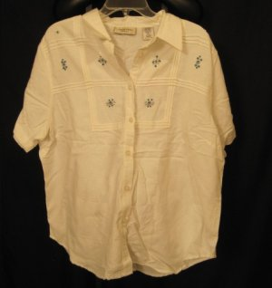 New Size 20W White Shirt  Button Front  Plus Size Women's Clothing 202301