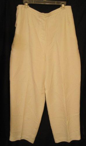 New White Due per Due Pants Size 18 Plus Size Women's Clothing 202351