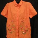 New Button Front Coral Shirt Size 18 / 20 Plus Size Women's Clothing 202241