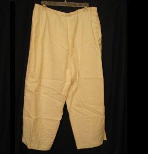 New White Linen Pants Size 22W Due per Due Plus Size Women's Clothing 202161