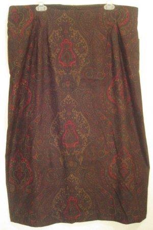 NEW Dark Paisley Skirt Size 22W Plus Size Women Clothing 203141 2
