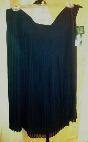 Ralph Lauren Navy Blue Silk Skirt  size 20W Plus Size Women Clothing 024