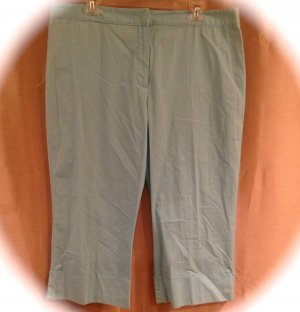 NEW Sigrid Olsen size 16 Blue Cotton Crop Pants Fashions For Her 004