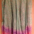 Kas Designs Silk Beaded Skirt Blue Pink Size 3X Plus Size Women Clothing 015