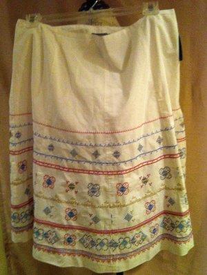 New Liz Claiborne size 16W White LInen Skirt Plus Size Women Clothing Fashions For Her 012