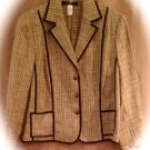 NEW Jones New York size 24 Women's Brown Tweed Blazer Plus Size Women Clothing 018