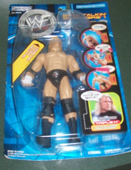 WWF Triple H Back Talkin Slammers Action Figure