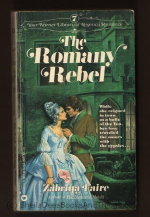 THE ROMANY REBEL  Zabrina Faire  Warner Library of Regency Romance #7 Walter Popp   s1663