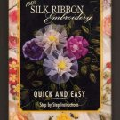 Bucilla New Stitches - 100% Silk Ribbon Embroidery - Quick and Easy - Intermediate Level - VHS
