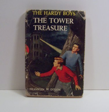 The Hardy Boys THE TOWER TREASURE #1  Franklin W. Dixon  tweed boards  HC/DJ  H0358