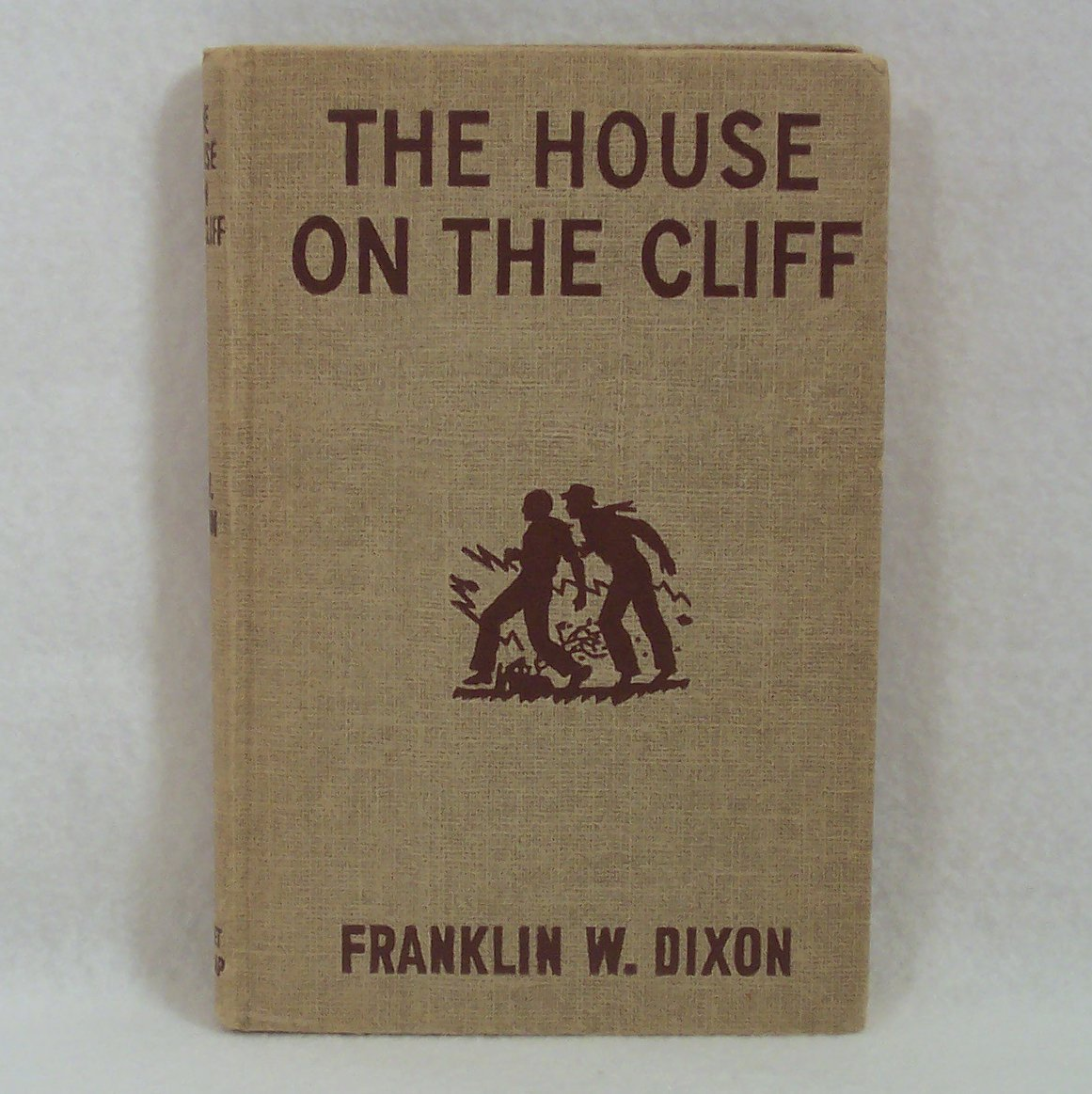 The Hardy Boys THE HOUSE ON THE CLIFF #2 tweed  HC 1959