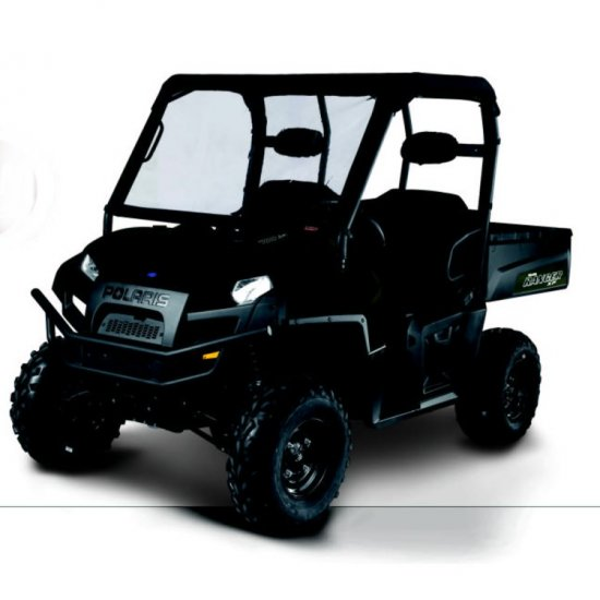 2009-12 Polaris Ranger UTV Instant Roll Up Vinyl Frpnt Windshield - 18-028-010401-00