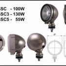 """5"""" Round  Stainless Steel 100W Clear Offroad Light"""