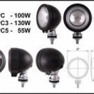 """5"""" Black Round 100W Clear Lens Offroad Light"""