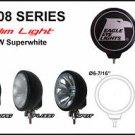 "6"" Black Round Slim 100W Super White Flood Light"