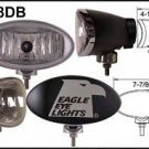 "8"" Black Oval 55"" Super White Driving Lights Set"