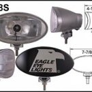 """8"""" Silver Oval 55"""" Super White Driving Lights Set"""