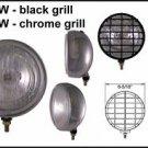 "6-5/16"" Chrome 100W Driving Light w/ Black Grille Set"