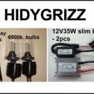 2007-2013 Yamaha Grizzly 350 400 450 ATV HID Headlight Conversion Light Kit