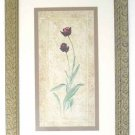 Retro Framed Print Tulips, late 70s early 80s, Deco style Wood Frame.