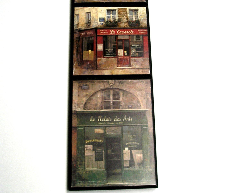 Paris Wall Art Homel Decor Souvenir  Books France Storefront. Vintage Antique Souvenir.
