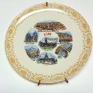State Plate Utah, Vintage Souvenir Retro 1970s Decorative Plate