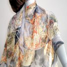 Chiffon Georgette Fabric Large Square earth tones Sheer Polyester Sarong Beach Wrap,
