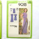 Dress Pattern, Sewing Pattern, Simplicity 9033, vintage 1970 Size 12 MISS, Pullover dress