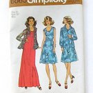 Two Piece Dress and Shirt Pattern, Size 16 Miss, Simplicity 6665, Vintage 1970s.