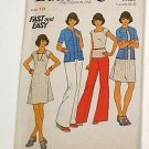 Vintage 1970s Top Dress Pants Sewing Pattern, Butterick 3583.