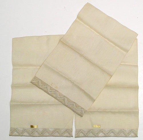 Vintage Linens, Collectible Napkins, Hand Embroidered, Ecru Beige, 1960's, Napkins set.