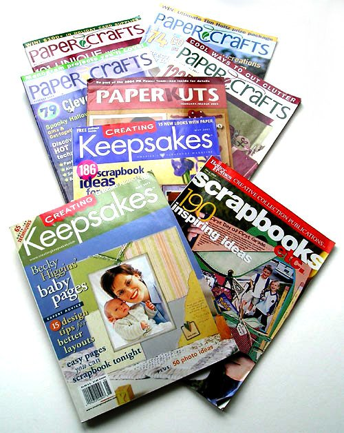 Keepsakes Scrap-booking Paper Crafts Magazines LOT, etc. for the Paper Crafts Artists.