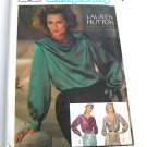 Simplicity 6647 Draped Tops Blouse Sewing Pattern Size 10 Euro 38, Lauren Hutton, 1984