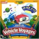 CRAYOLA VEHICLE VOYAGES - 3D COLOR BOOK
