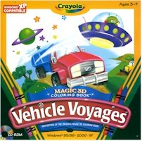 CRAYOLA VEHICLE VOYAGES - 3D COLOR BOOK