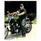 Genuine Buffalo Leather Motorcycle Chaps-Medium