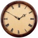 """Edward Meyer 23-1/2"""" X-Large Executive Clock with Wood Frame"""