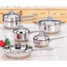10pc Stainless Steel Cookware Set
