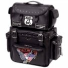 2pc Motorcycle Tour Bag Set with Patches
