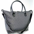 Checkered Tapestry Shopping Bag