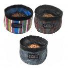 Kyjen Bright Stripes Port A Bowl Fashion Pattern Travel Bowl