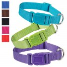 "Bluebird Teal Fashion Nylon Adjustable Dog Collar 10""-16"" Neck"