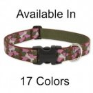 Lupine Large Breed Adjustable Dog Collar plum blossom