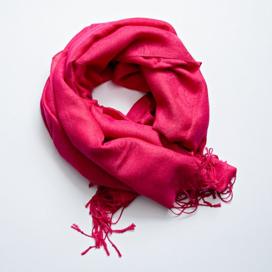 bright fuchsia pashmina/silk scarf