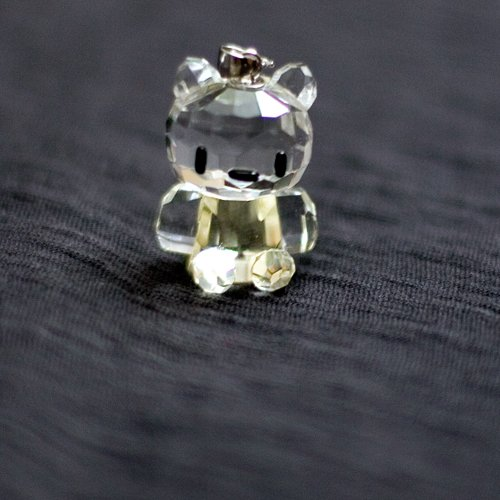 Real crystal kitty in yellow