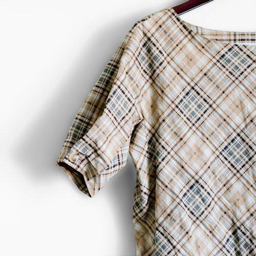 Charles Nolan check tunic dress